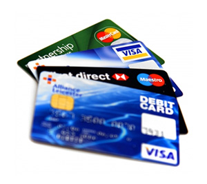 Pay by debit or credit card